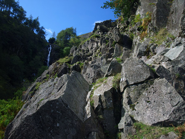 Scramble close to Taylorgill Force