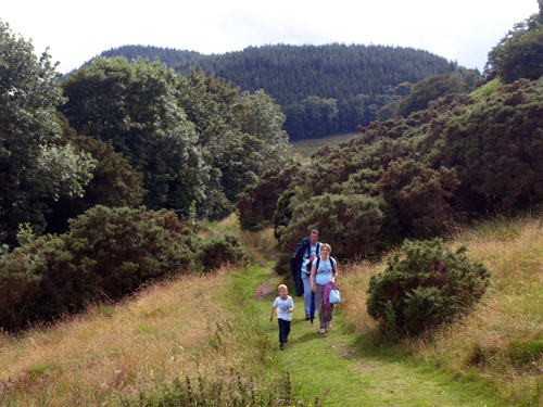 Family walk back towards Watermillock church and Cove