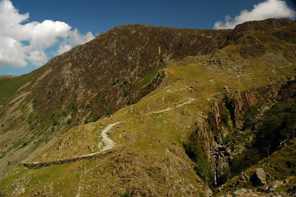 Fleetwith Pike above the quarry trail