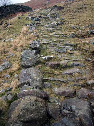 White Stones pitched path