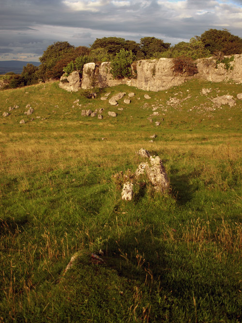 Ancient wall on the Nab
