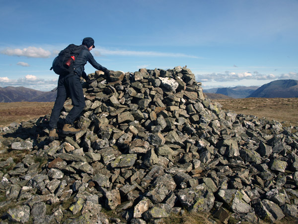 Cairn on Carling Knott