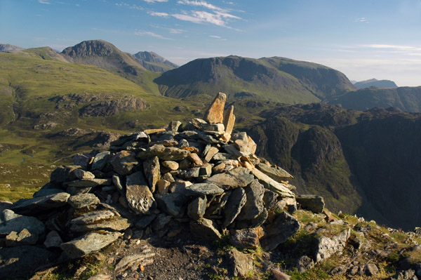 Summit cairn of Fleetwith Pike