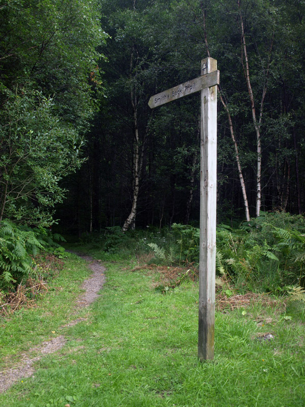 Start of the Smithy Beck Trail