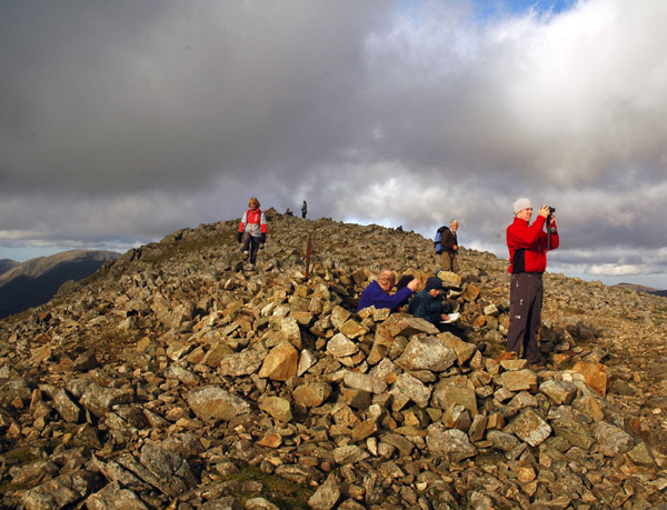 Summit of Green Gable with typical throng