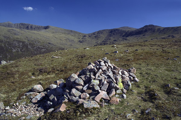 Upper cairn on the Tongue ridge