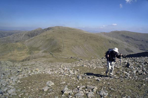 Looking east to Steeple and Scoat Fell