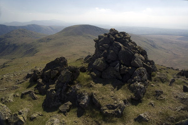 Cairn on the top of Great Gowder Crag