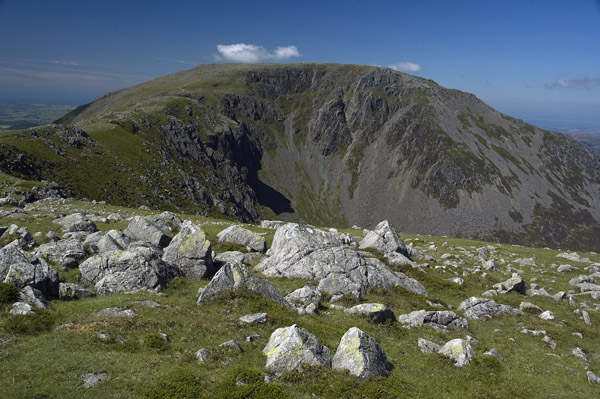 View over the head of Birkness Comb to High Stile