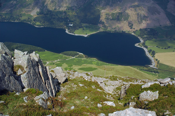 Looking donw from the top of Sheepbone Rake to the head of Buttermere