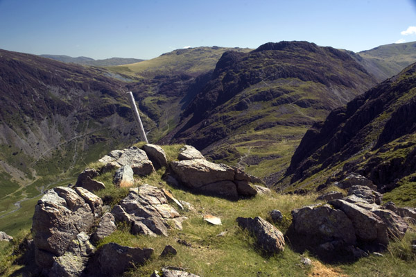 Haystacks from the foot of the ascent to Gamlin End