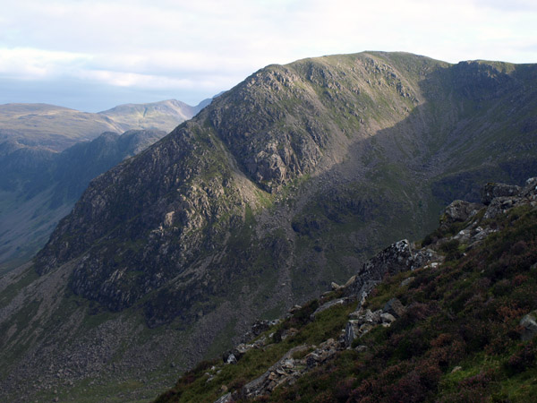 Sheepbone Buttress as seen during the ascent of High Stile from Birkness Comb