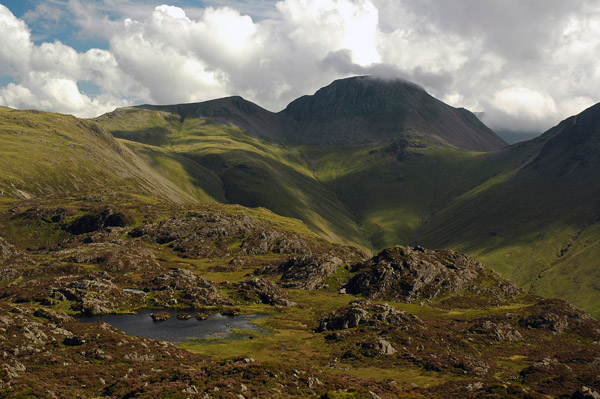 Cloud wreathed Great Gable