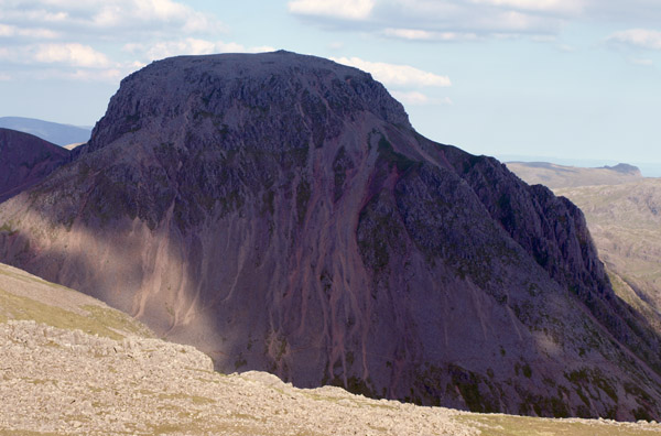 Great Gable engulfed in cloud shadow
