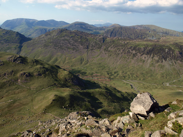 Looking Stead from Kirkfell Crags
