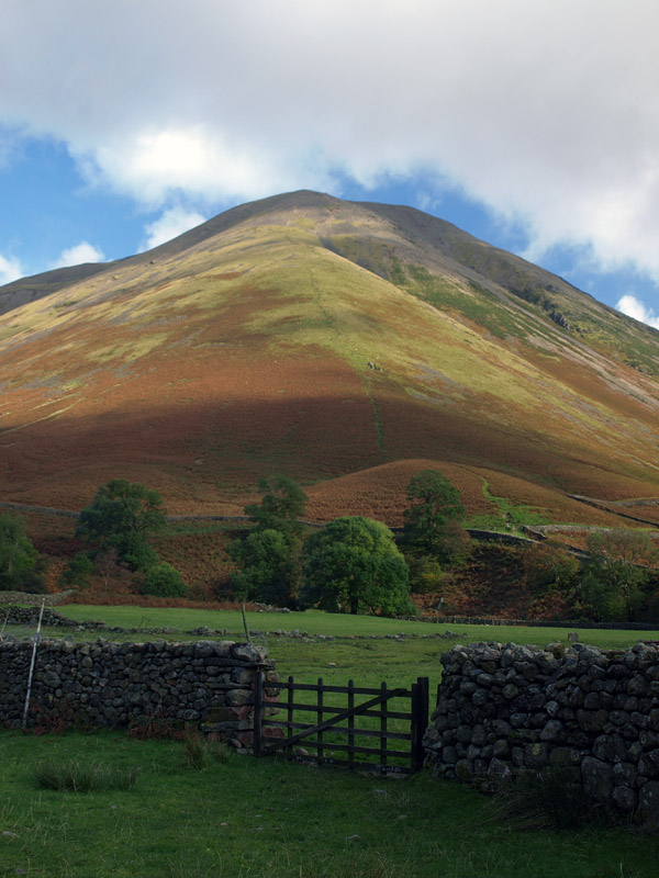 Highnose Head rising above Wasdale Head