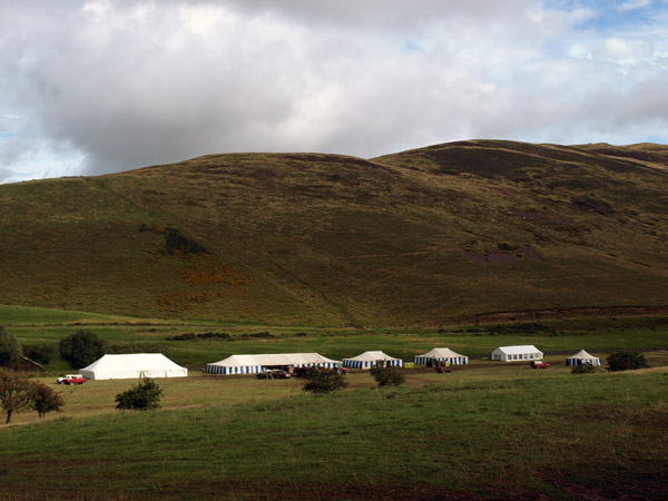 After the show - Marquees associated with the Ennerdale Show in the same field as the hound trails