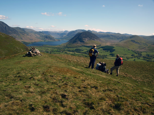 Walkers mesmerised by the view from Darling Fell