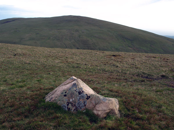 Solitary boulder marks the summit of Whoap
