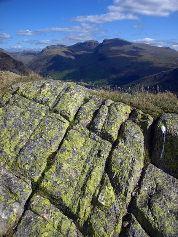 Lichened outcropping on the ridge above Goat Gill