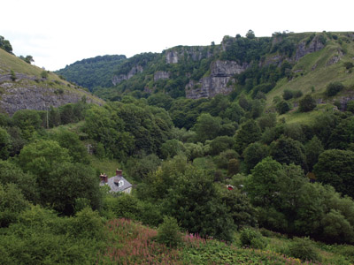Chee Dale from above the mineral line