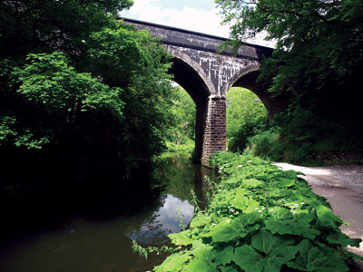 Mineral line viaduct in Wye Dale