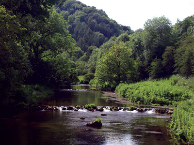The Wye emerging from Chee Dale