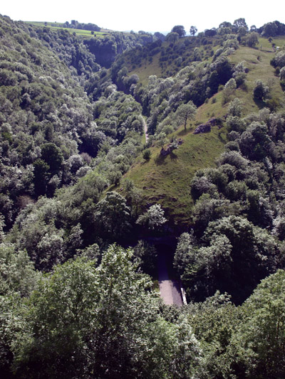 Chee Dale from above the tunnel