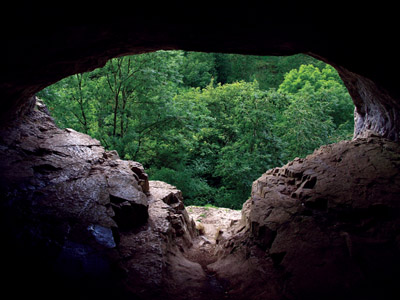 View out of Thurst House Cave
