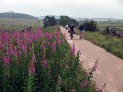 Bikers on the High Peak Trail