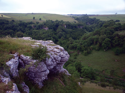 eastward view down Lathkill Dale