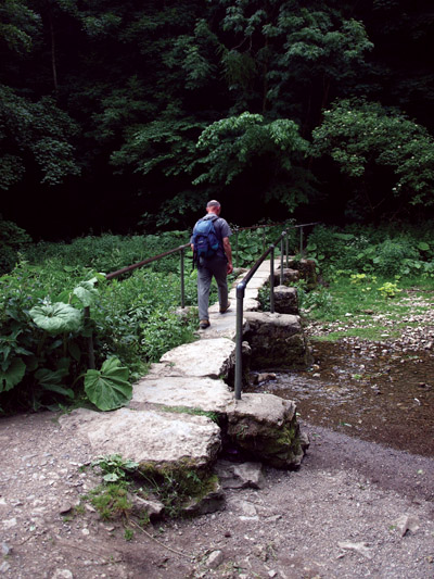 Clapper footbridge at Lathkill Lodge