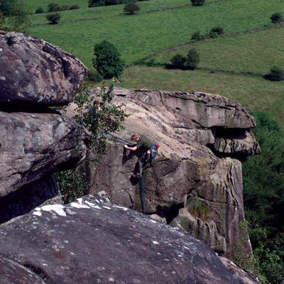 Climbers' on Cratcliffe Rocks