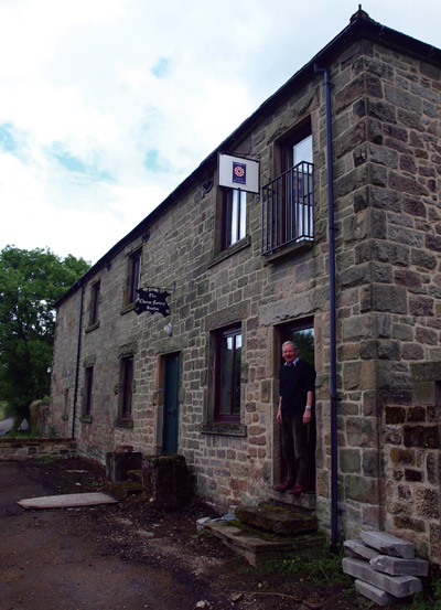 Jonathan Snodgrass - the welcoming figure at the door of Gratton Old Cheese Factory B&B