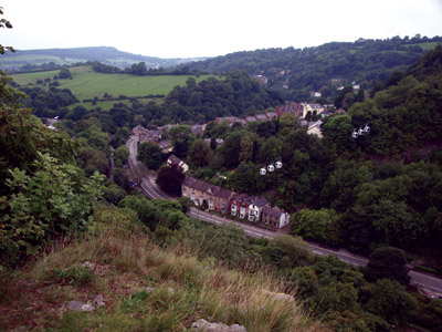 Matlock Bath from the edge path lower down the High Tor grounds