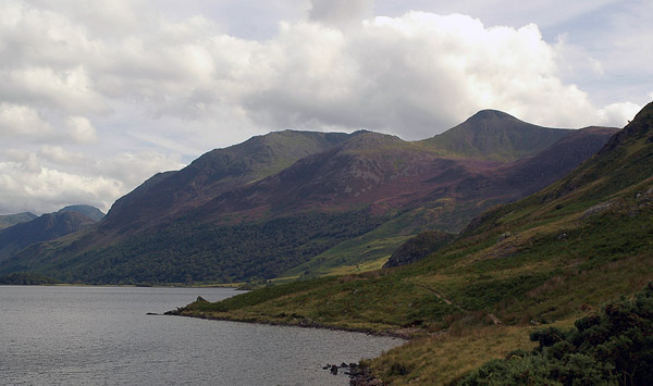 Red Pike from the shores of Crummock Water