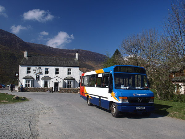 Honister Rambler bus at Buttermere