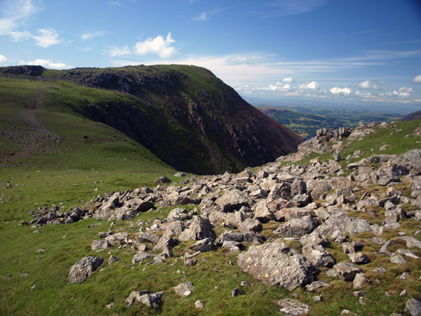 Red Pike from below Chapel Crags
