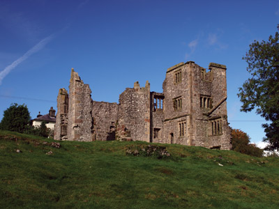 Throwley Old Hall ruins