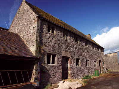The Barracks reverted to barn at Throwley