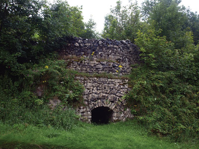 Old lime kiln close to the Hartington Station entrance