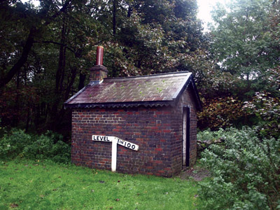 Railway engineers hut at station, with incline gradients… showing that the trail leading north was level