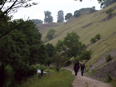 Walkers in Wolfscote Dale