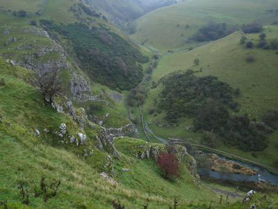 Looking down on Biggin Dale from Peaseland Rocks