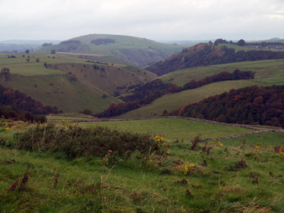 Gratton Hill and the Dove valley from the high path to Hanson Grange