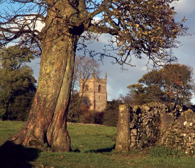 St Peter's from the Hope Dale bridleway