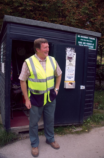 David - the cheery face at weekends at the Dove Dale car park