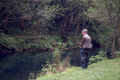 Dove Dale fly fisherman