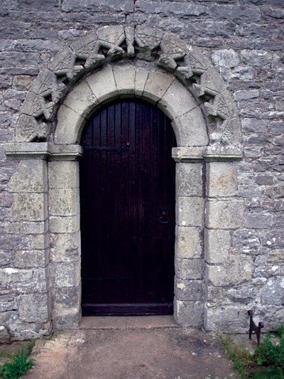 South door of St Michael's Church Alsop-in-le-Dale