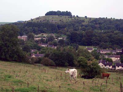 Parwich village and backing limestone hill